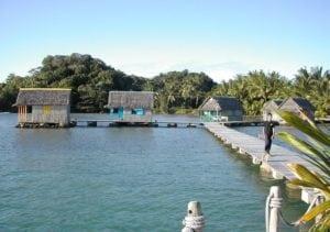 Vue Bungalow Pilotis sur l'eau Lakana Hotel