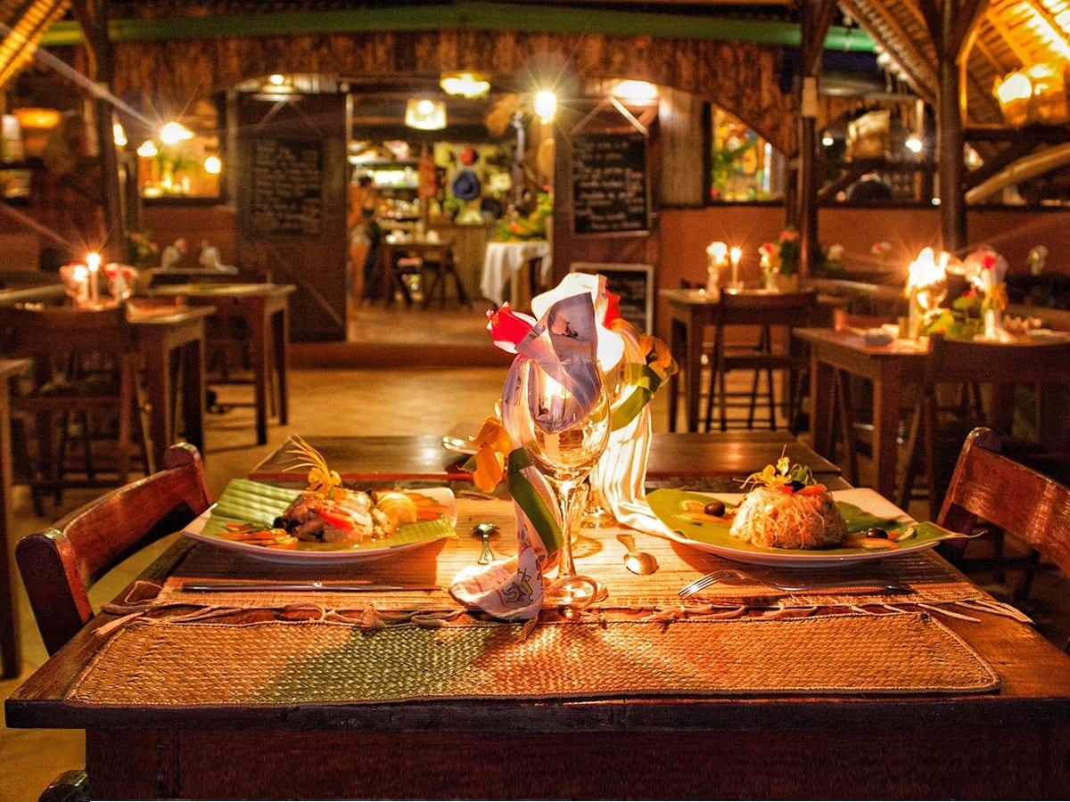 Diner au chandelles - Lakana Hôtel Sainte Marie