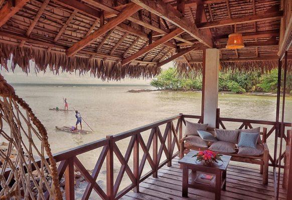 Terrasse – Bungalows La Lagoon suite